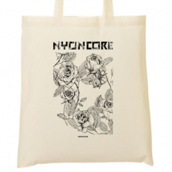 tote bag roses zoomed