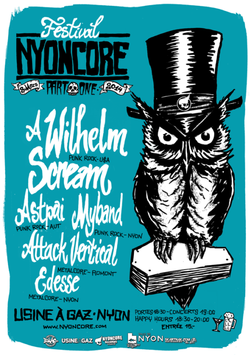 affiche festival nyoncore 2014 part one